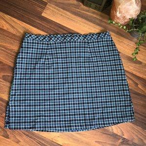 Blue plaid school girl skirt